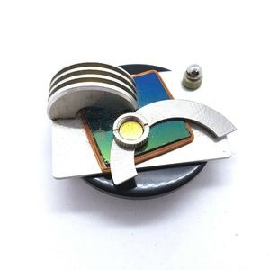 Signed Molly Hart Handcrafted Abstract Brooch 1994